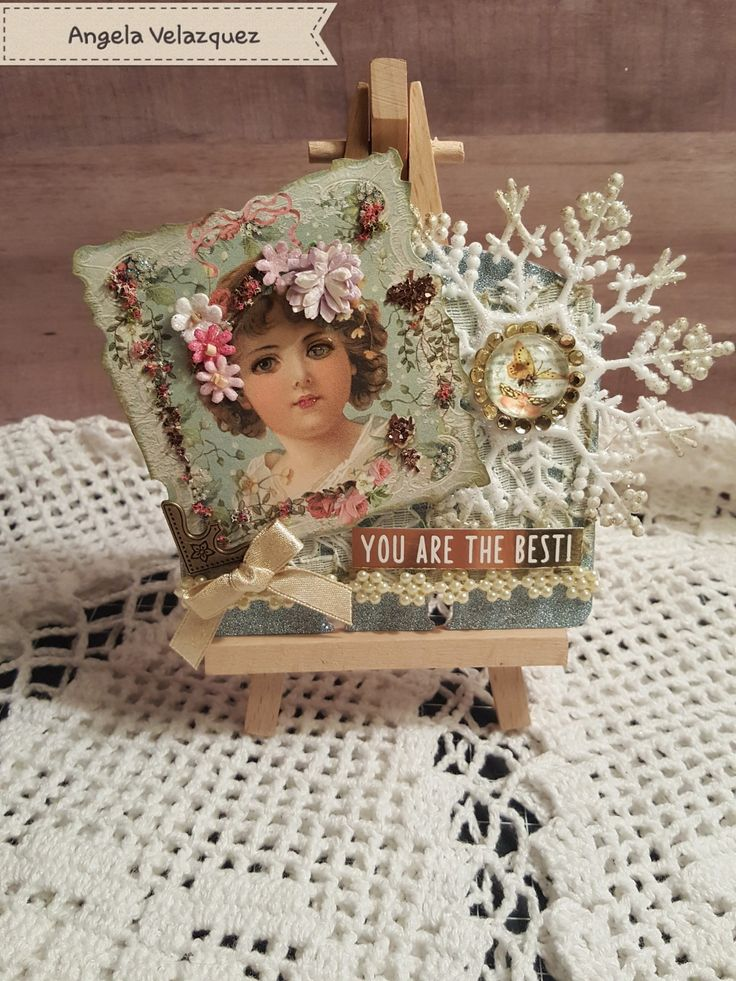 Christmas vintage rolodex card By Angela Velazquez #rolodex #memorydex #Vintage #Shabby