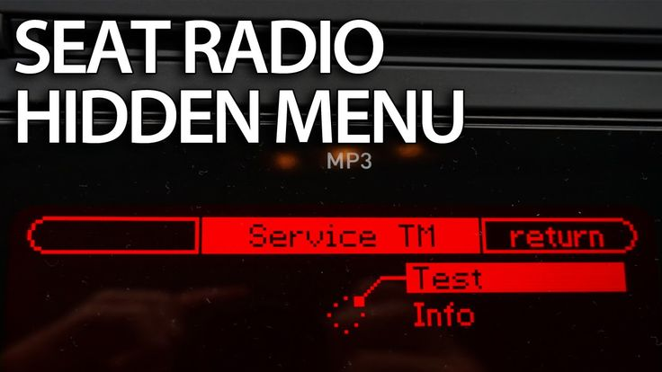 How to enter hidden menu in #SEAT #Ibiza MK4 #Leon MK2 #radio ULSECD #cars