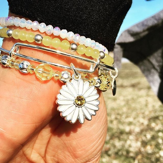 ALEX AND ANI CHARITY BY DESIGN Daisy Charm Bangle | Let Girls Learn | Girl Power