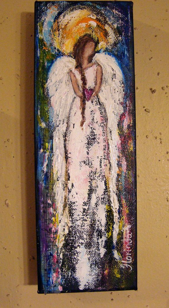Angel Painting Scripture Art Rejoices in the Lord II by Florinda, $35.00