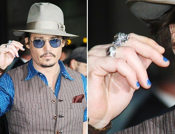 Johnny Depp isn't scared of a manicure.which makes me love him even more ❤
