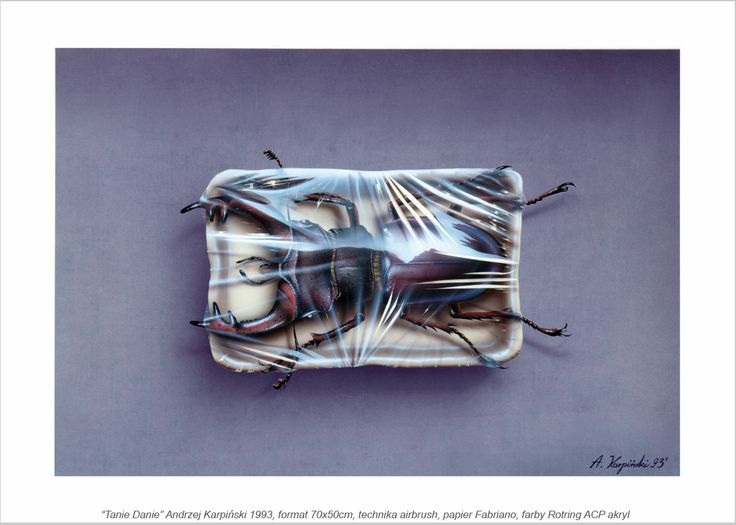Andrzej#Karpinski#Tanie#Danie#1994#akryl#aerograf#50x70 cm