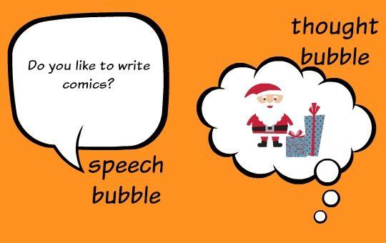 Mostra ai bambini come usare fumetti e bolle di pensiero durante la scrittura di…
