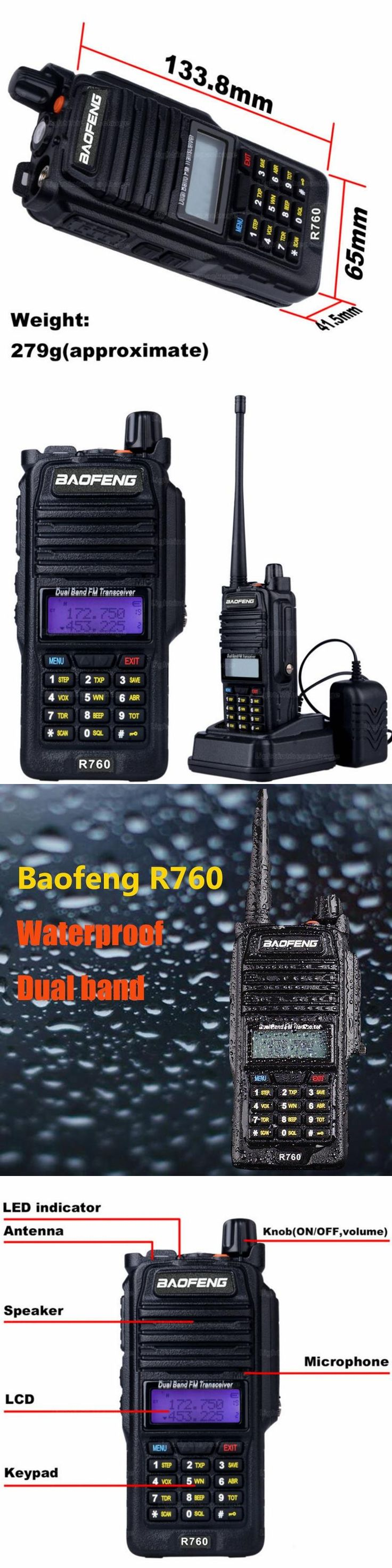 Waterproof Walkie Talkie baofeng R760 Long Range Handheld Two Way Radio UHF 400-480MHz CB Ham Radio Communicator