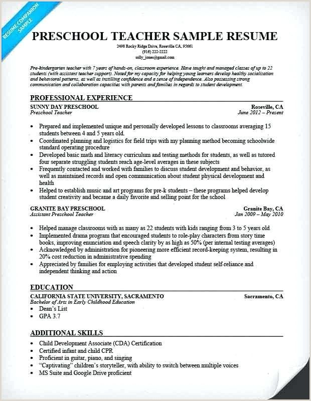 Daycare Teacher Assistant Resume With Images Preschool Teacher Resume Teacher Resume Template Teacher Resume Examples