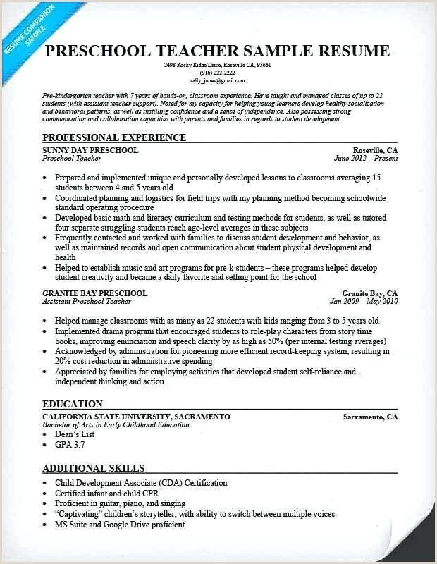 Daycare Teacher Assistant Resume Preschool Teacher Resume Teacher Resume Template Teacher Resume Examples