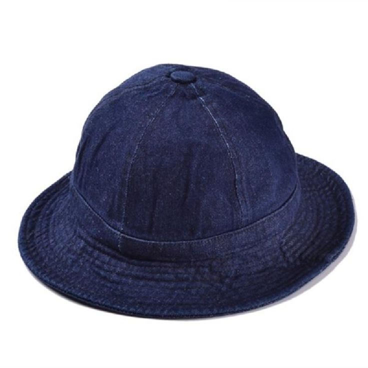 Women Denim Solid Color Bucket  Cap Fisherman Jean Summer Outdoor Visors Hat - Gchoic.com