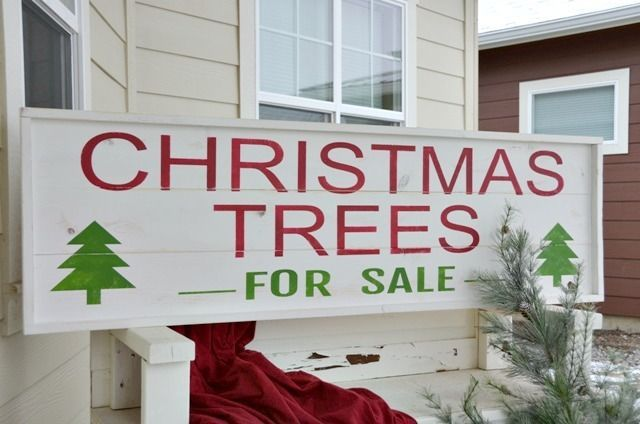 Christmas Trees For Sale, Painted Wood Signs, For Sale ...