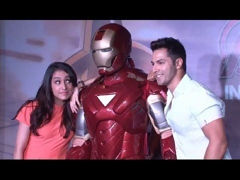 Varun Dhawan & Shraddha Kapoor at 'Avengers: Age of Ultron' screening.