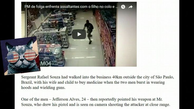 Off-duty police officer shoots armed robber's dead while holding baby