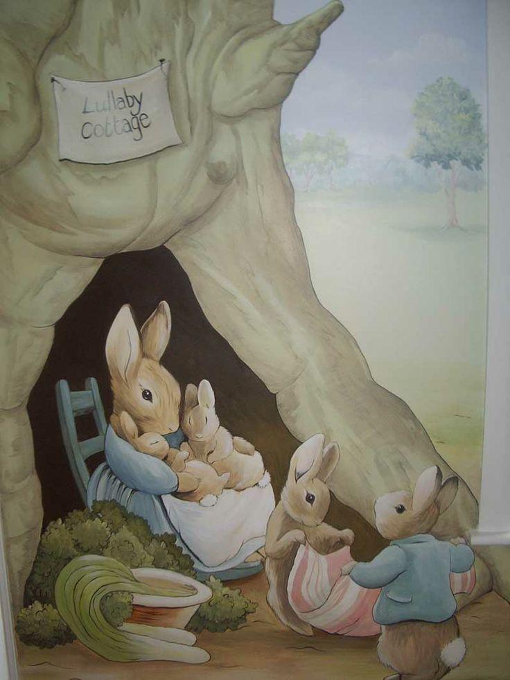 Countryside Baby's Nursery Mural