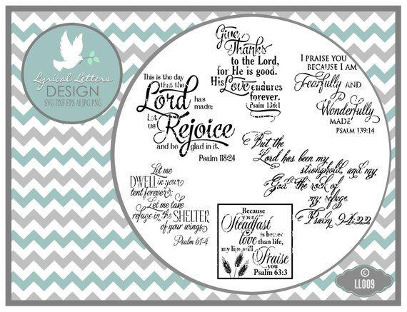 Etsy Pinterest Pin Psalm 94 Psalm 118 Psalm 139 Psalm 136 Psalms 61 Ll009 Svg Etsy Pinvibe Com