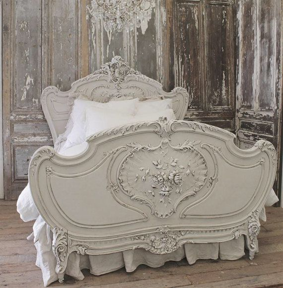 Antique French Bed by FullBloomCottage on Etsy