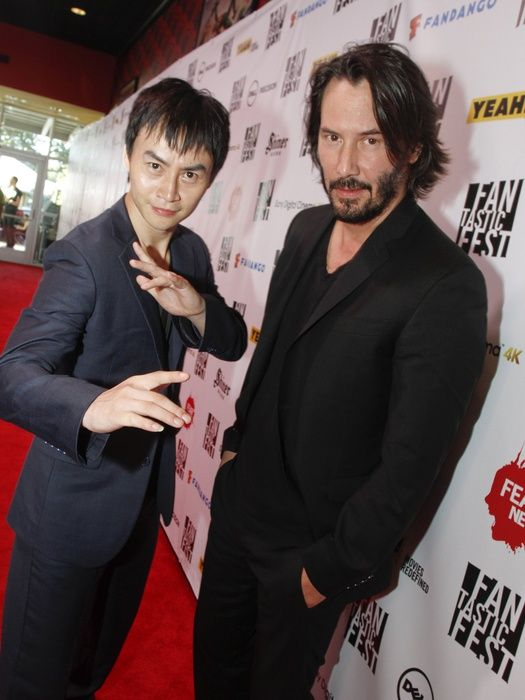 Keanu Reeves and Tiger Chen on 'Man of Tai Chi' at Fantastic Fest