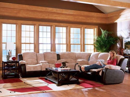 luxury leather reclining sofa sectional