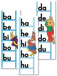 Introducing blends in same vowel order every time. This chart from A Beka