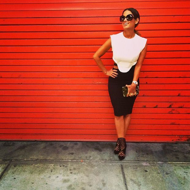 Splurge: Rocsi Diaz's Latina Magazine Hollywood Hot List Party SuperTrash High Neck Side Cutout D'Angelo Short Dress, Christian Louboutin Mrs. Bouglione Black Suede Cage Ankle Boots (via Bloglovin.com )
