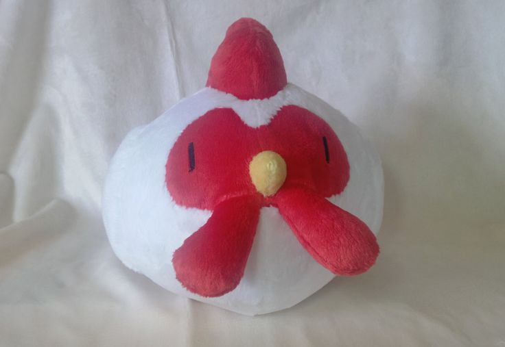 White Harvest Moon Chicken Chick by PlushDrops on Etsy