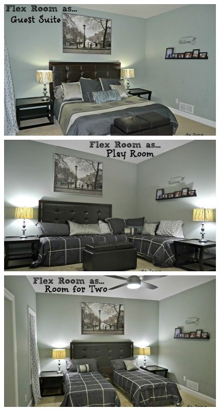 3-in-1 Flex Room: Guest Suite, Play Room, and Room for Two | featured at Remodelaholic.com