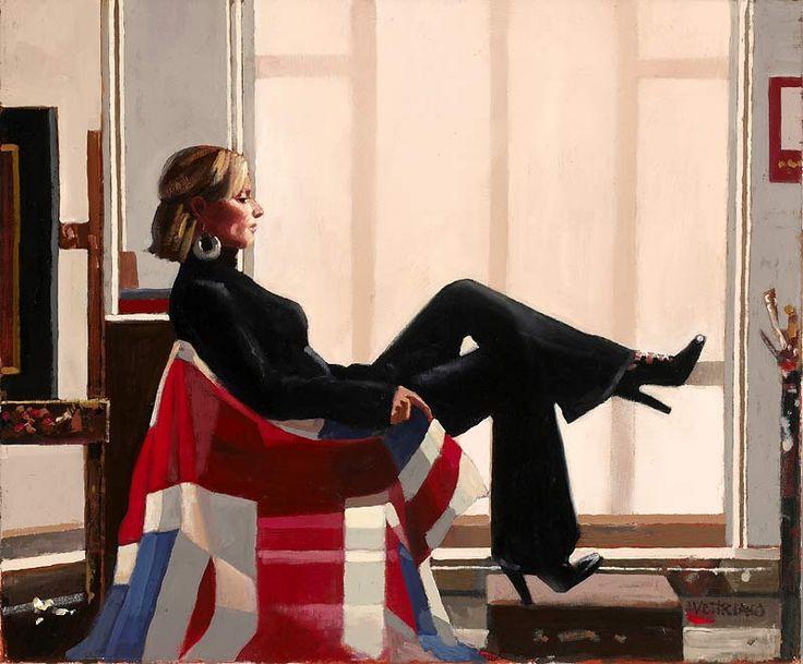 Jack Vettriano - Portrait of Zara Phillips, 13th in line to the throne