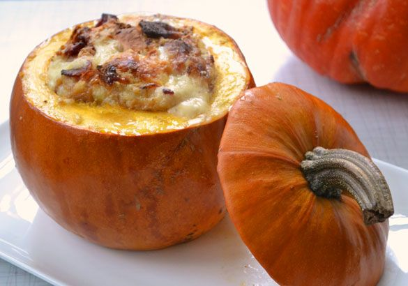 pumpkin stuffed with everything good 4 Roasted Pumpkin Filled with ...