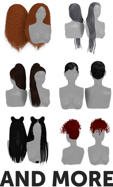 Sims 4 CC's - The Best: OLD HAIRS by Grams Sims