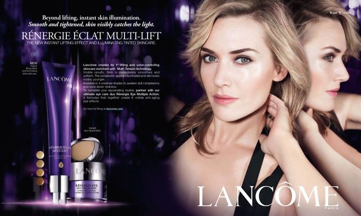 Lancôme Advertising with Kate Winslet