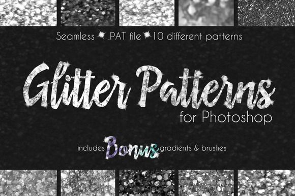 Great Glitter Texture Patterns Photoshop