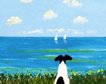Smooth Fox Terrier dog art PRINT of Todd Young painting