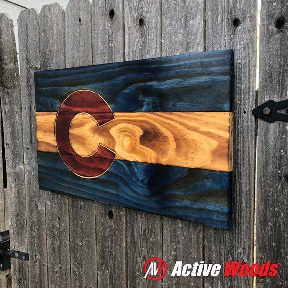 Burnt Wood Colorado Flag Etsy Colorado Flag Diy Wood Stain Colorado Art