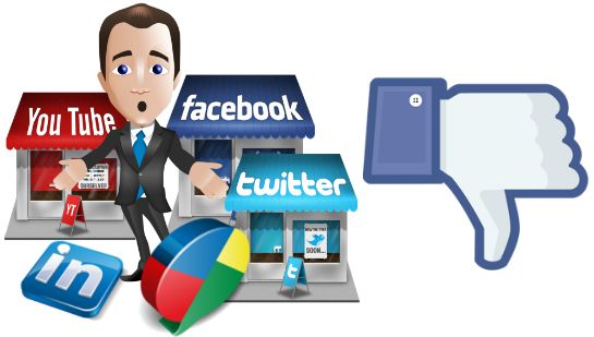 http://www.stealthimarketing.com/news/social-media/3-reasons-why-relying-on-social-media-is-dangerous  What would you do if your business was taken down from your social platform? Dont think it will happen? It does and destroys business' overnight...