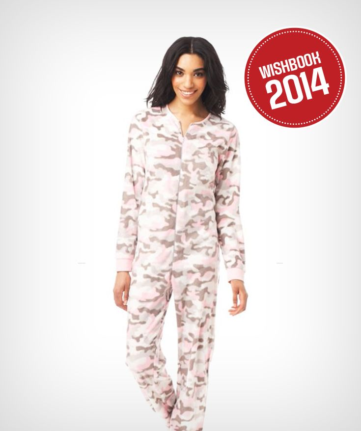 Choose a fun onesie like this pink camo design for the holiday season