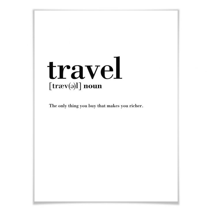 Poster Grammatik – Travel | wall-art.de