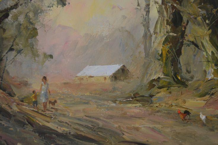 """Gentle on my mind"" Tony de Freitas oil on canvas 30x80"