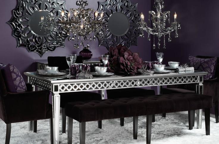 Best 25 dark purple walls ideas on pinterest purple for Purple dining room table