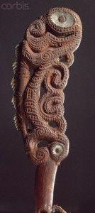 Mata-kautete or Maripi tuatini:      Maori shark-tooth knife.    Very rare short, saw-like Maori weapons made by fastening sharks' teeth to a wooden haft.