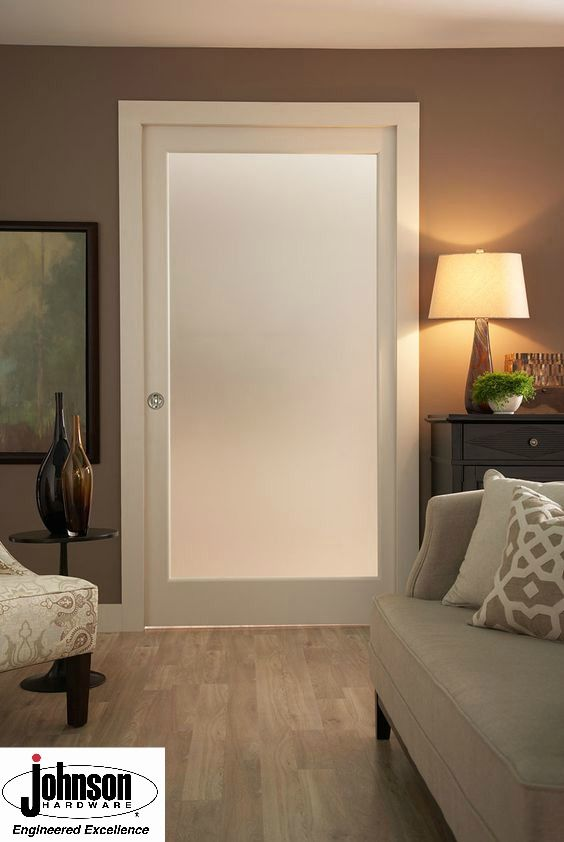 With A Frosted Pocket Door, You Can Keep The Natural