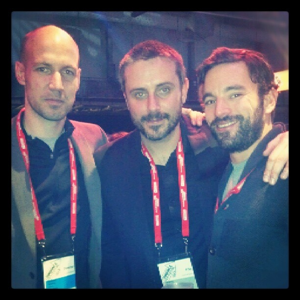 """Staffer Chris Horton connects with buddies Jeremy Scahill and Richard Rowley from """"Dirty Wars"""""""