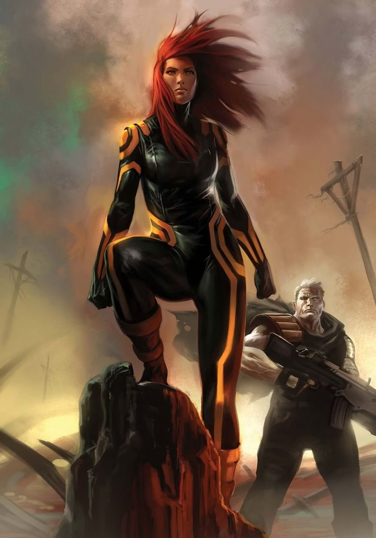 Hope Summers and Cable by Marko Djurdjevic