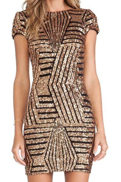 Want: Sequins Backless Short Sleeve Dress