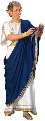 TOGA COSTUME MEN GREEK GOD JULIUS CAESAR ZEUS NERO TUNIC ROMAN ROBE HQ 90712 in Clothing, Shoes & Accessories   eBay