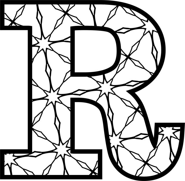 alphabet coloring pages to print | 77 best Decorated Alphabet Letters images on Pinterest