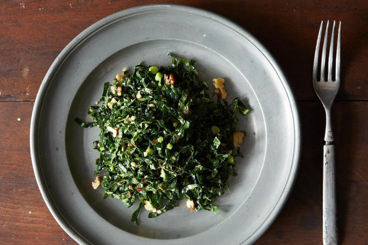 Lacinato Kale and Mint Salad with Spicy Peanut Dressing, a recipe on Food52