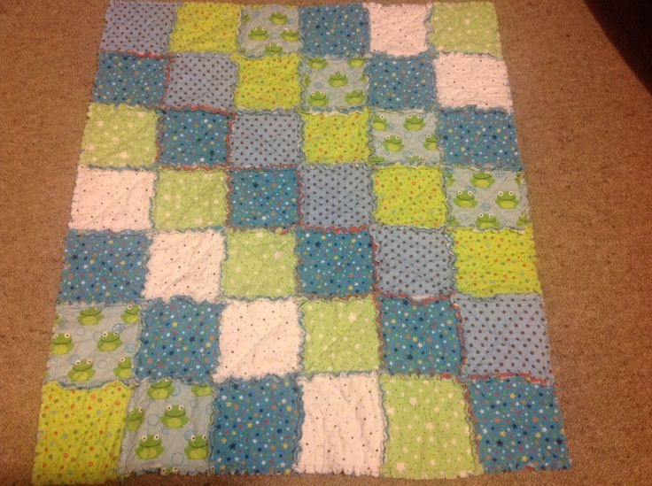 Baby Rag Quilt made 21 Sept 2014