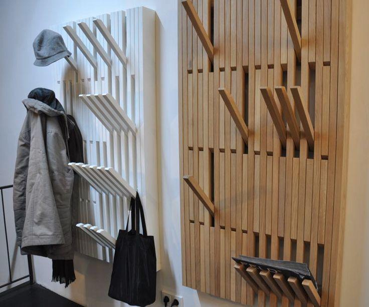 Peruse Piano Garderobe, H1450 x B410 mm, Buche weiß lackiert von Patrick Seha - Designermöbel von smow.de