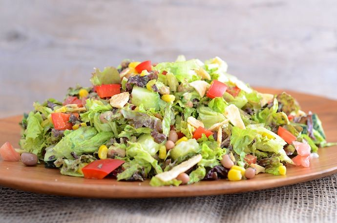 Vegan Southwest Chopped Salad. Please follow all of my Pinterest boards!