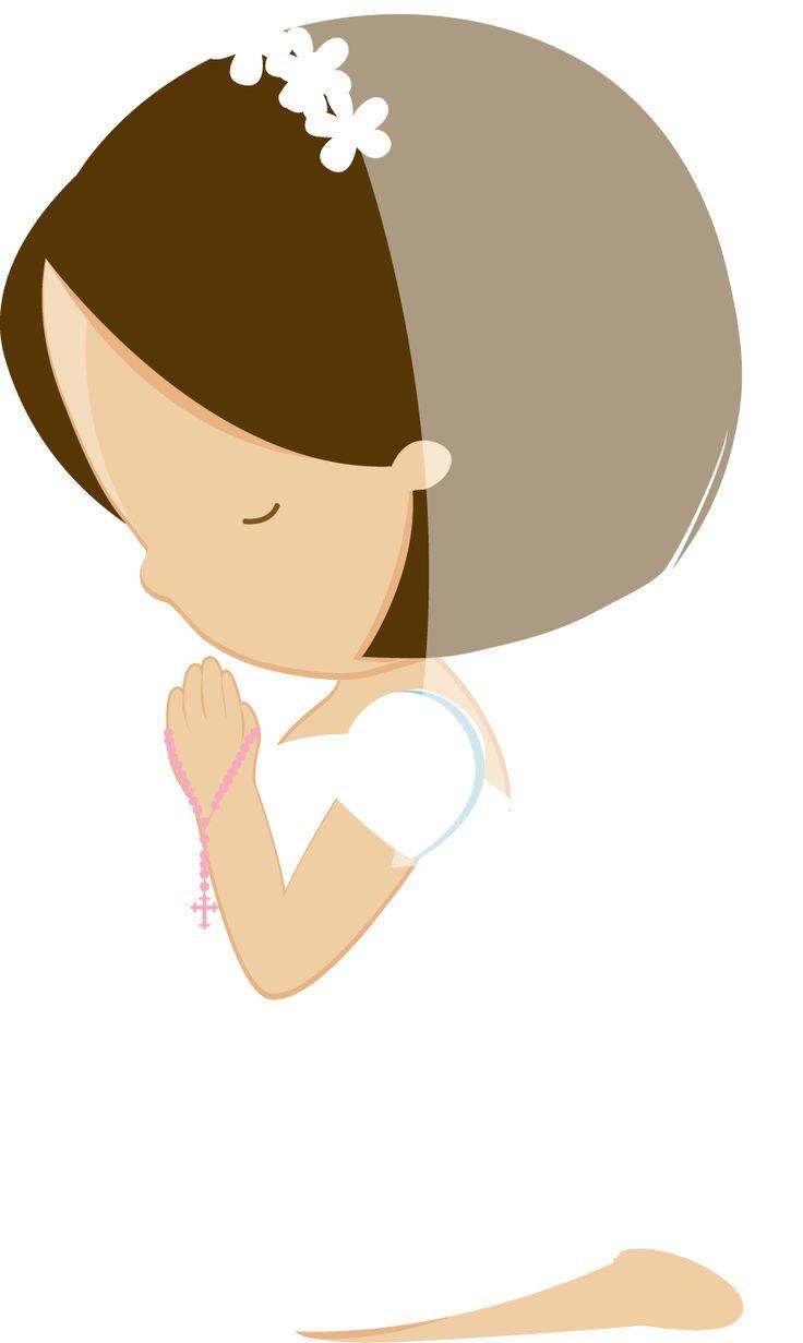 Imagen para primera comunión de niña.