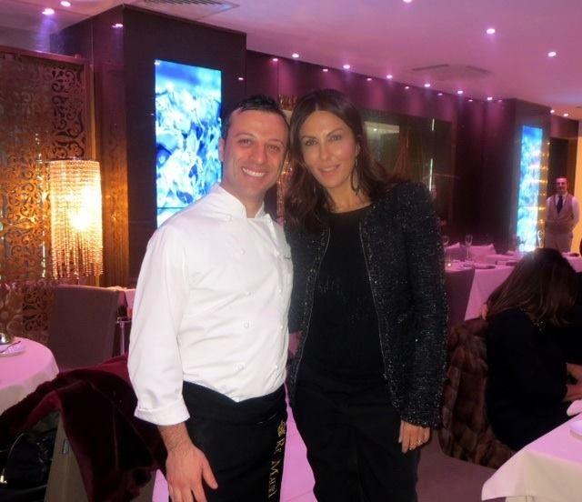 Sabrina Ferilli con il nostro chef Lorenzo Cuomo