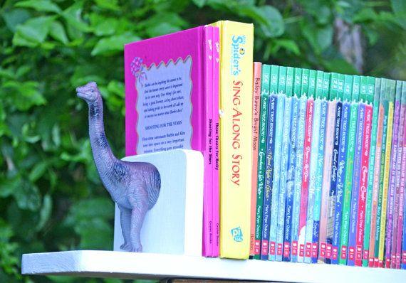 Dino Bookshelf Bookends Dinosaur Decor Kids Room by LifeUnscripted, $42.00