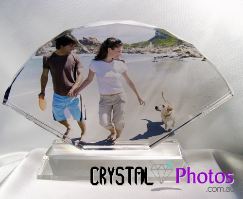 A123 Sector Photo Gift Crystal with stand 12x18x1.5cm